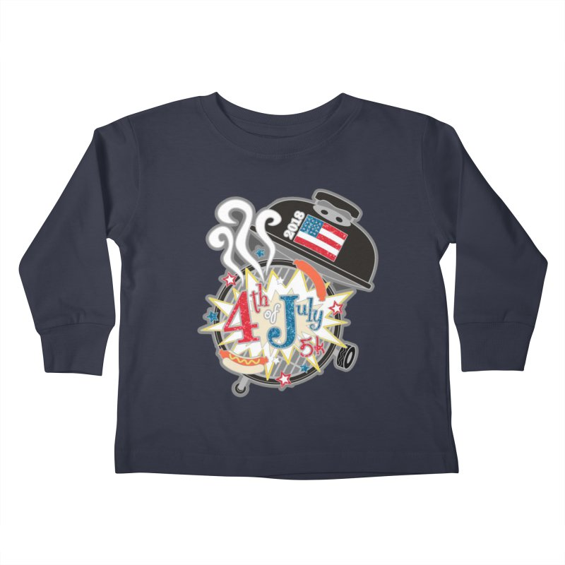 4th of July 5K Kids Toddler Longsleeve T-Shirt by moonjoggers's Artist Shop