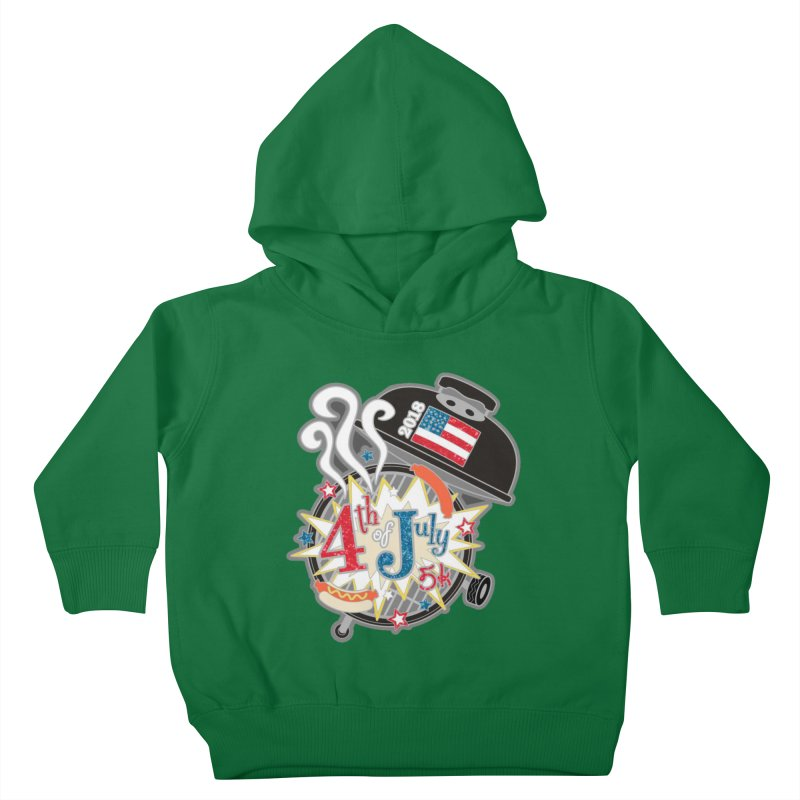 4th of July 5K Kids Toddler Pullover Hoody by moonjoggers's Artist Shop