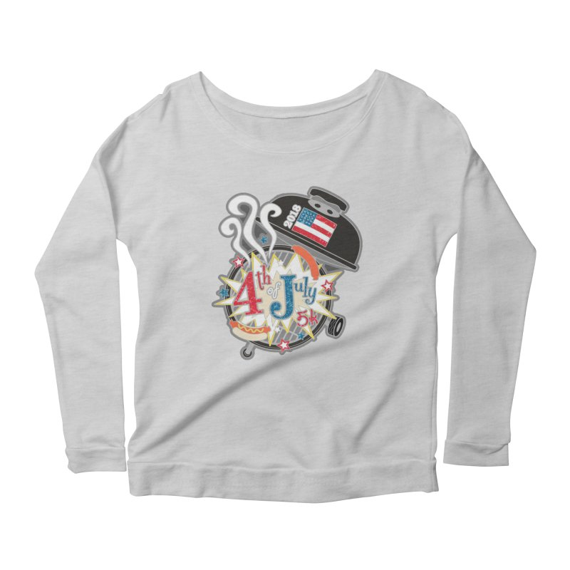 4th of July 5K Women's Longsleeve Scoopneck  by moonjoggers's Artist Shop