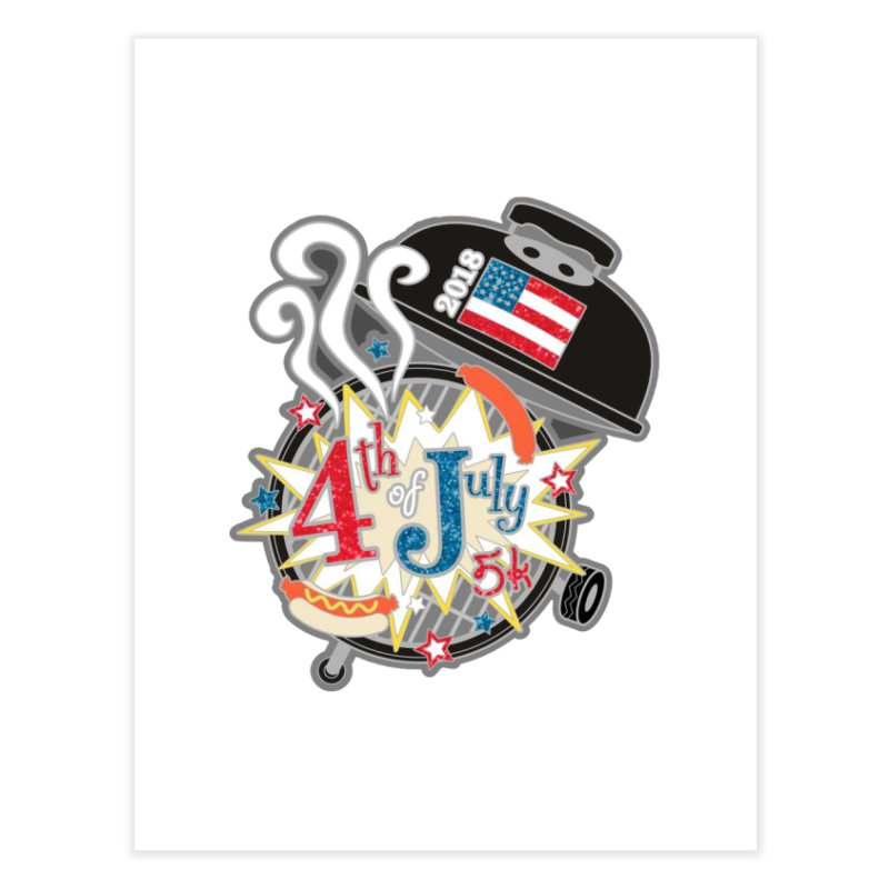 4th of July 5K Home Fine Art Print by moonjoggers's Artist Shop