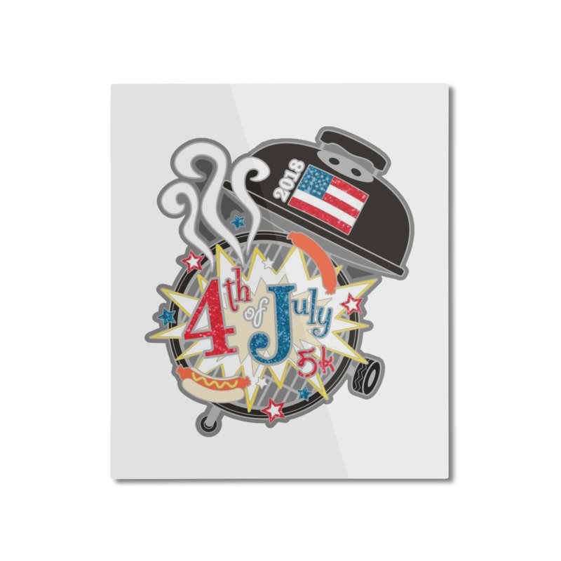 4th of July 5K Home Mounted Aluminum Print by moonjoggers's Artist Shop