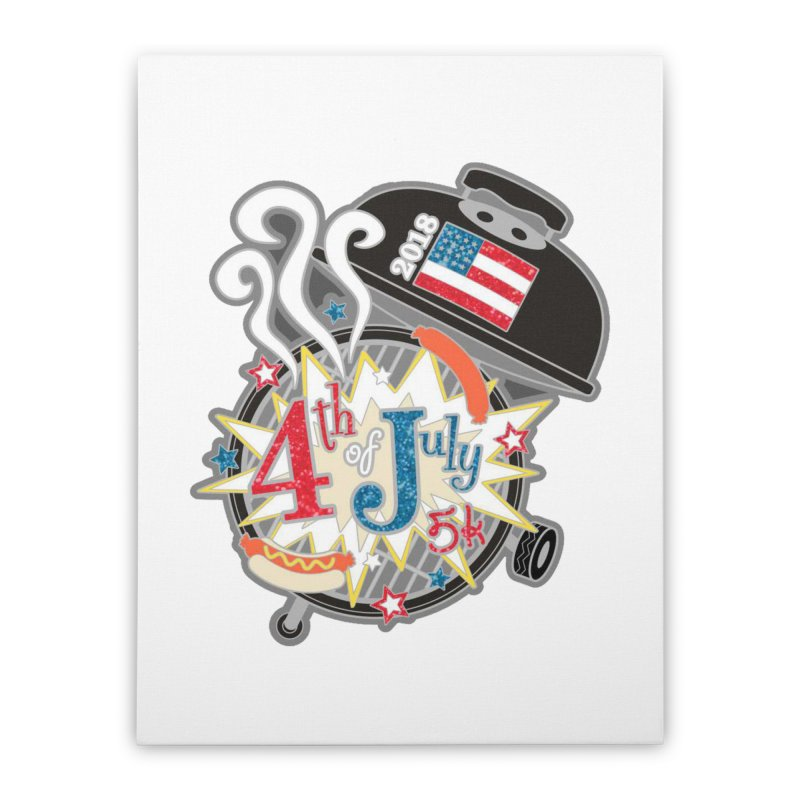 4th of July 5K Home Stretched Canvas by moonjoggers's Artist Shop
