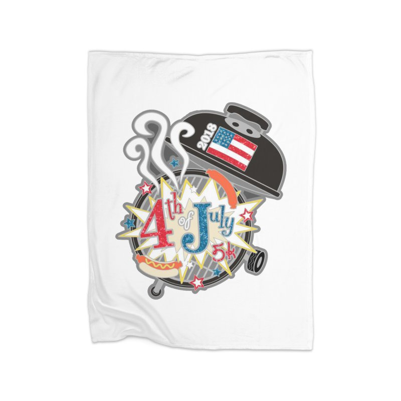 4th of July 5K Home Blanket by moonjoggers's Artist Shop