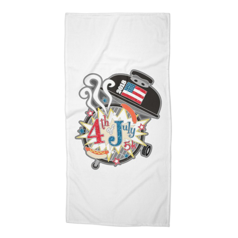 4th of July 5K Accessories Beach Towel by moonjoggers's Artist Shop