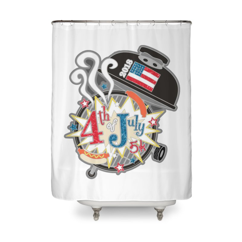 4th of July 5K Home Shower Curtain by moonjoggers's Artist Shop