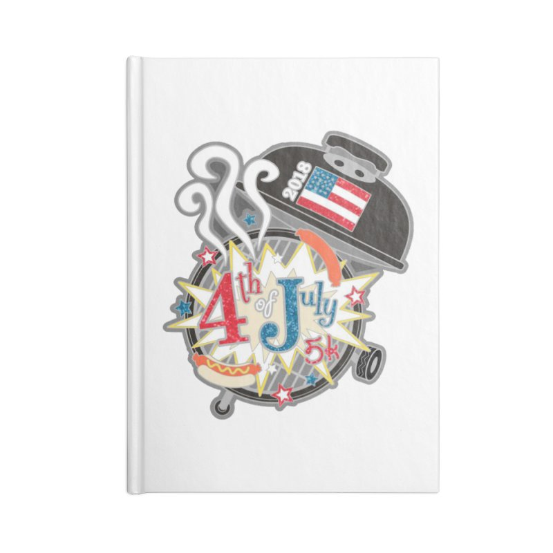 4th of July 5K Accessories Notebook by moonjoggers's Artist Shop
