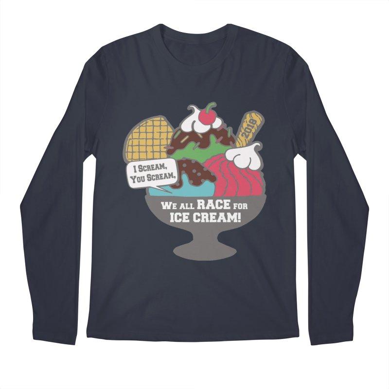 Ice Cream Day 5K Men's Longsleeve T-Shirt by moonjoggers's Artist Shop