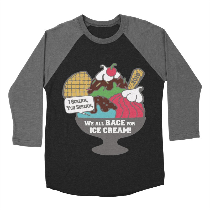 Ice Cream Day 5K Women's Baseball Triblend T-Shirt by moonjoggers's Artist Shop