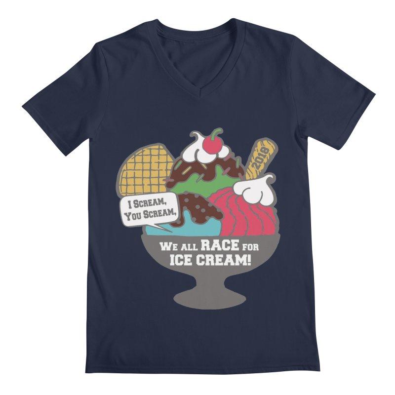 Ice Cream Day 5K Men's V-Neck by moonjoggers's Artist Shop