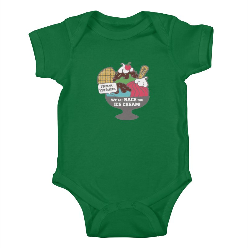 Ice Cream Day 5K Kids Baby Bodysuit by moonjoggers's Artist Shop
