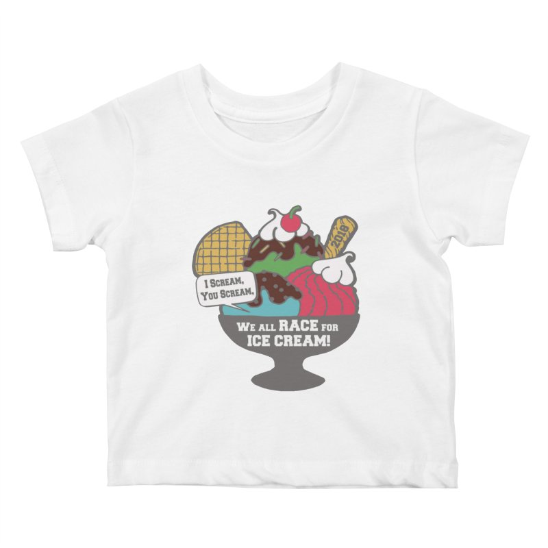 Ice Cream Day 5K Kids Baby T-Shirt by moonjoggers's Artist Shop