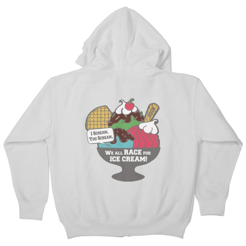 Ice Cream Day 5K Kids Zip-Up Hoody by moonjoggers's Artist Shop