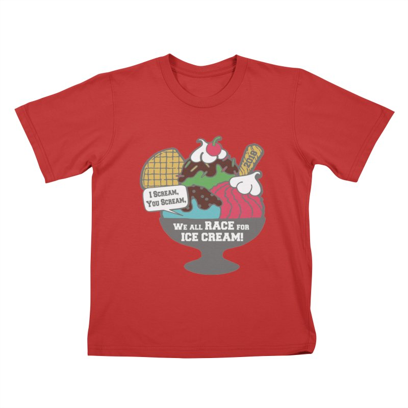 Ice Cream Day 5K Kids T-Shirt by moonjoggers's Artist Shop