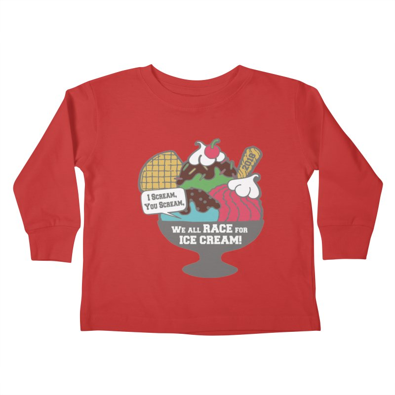 Ice Cream Day 5K Kids Toddler Longsleeve T-Shirt by moonjoggers's Artist Shop