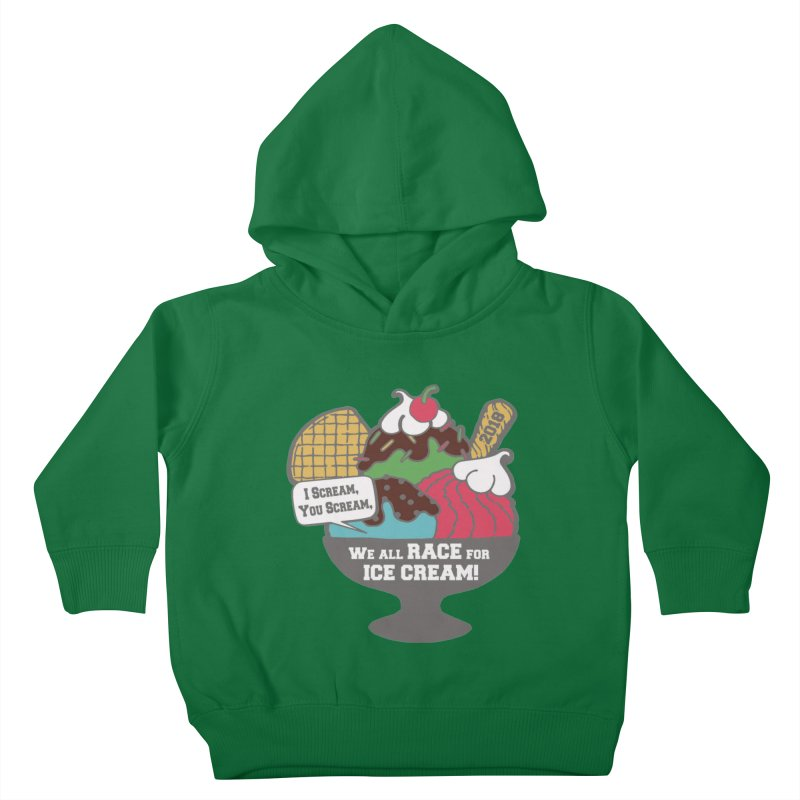 Ice Cream Day 5K Kids Toddler Pullover Hoody by moonjoggers's Artist Shop