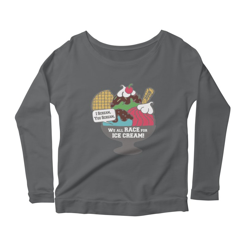 Ice Cream Day 5K Women's Longsleeve Scoopneck  by moonjoggers's Artist Shop