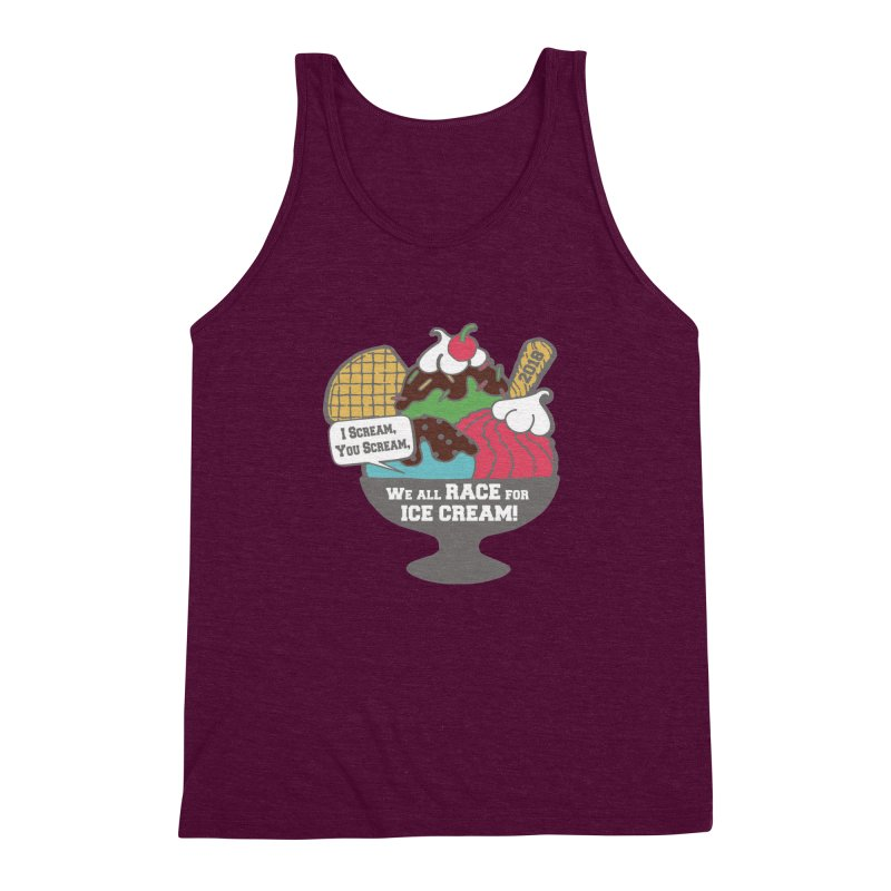 Ice Cream Day 5K Men's Triblend Tank by moonjoggers's Artist Shop