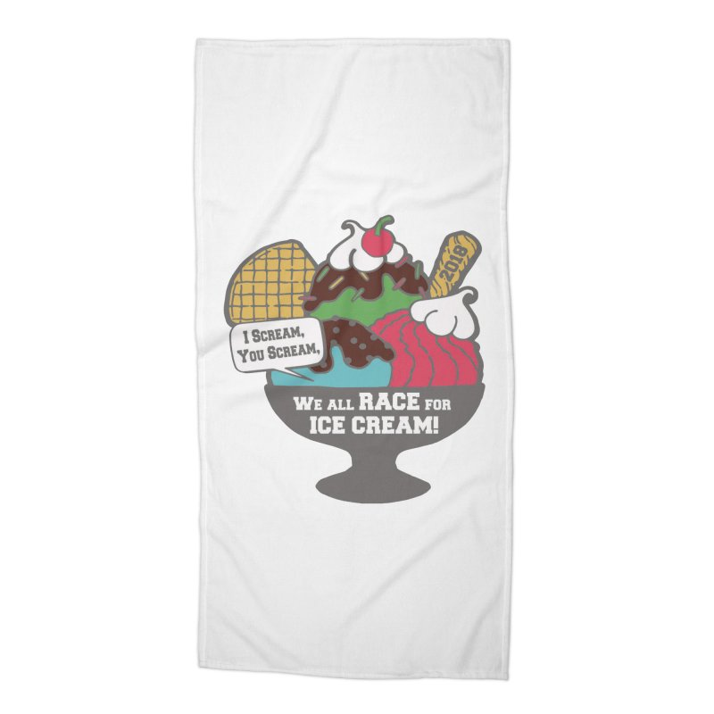 Ice Cream Day 5K Accessories Beach Towel by moonjoggers's Artist Shop