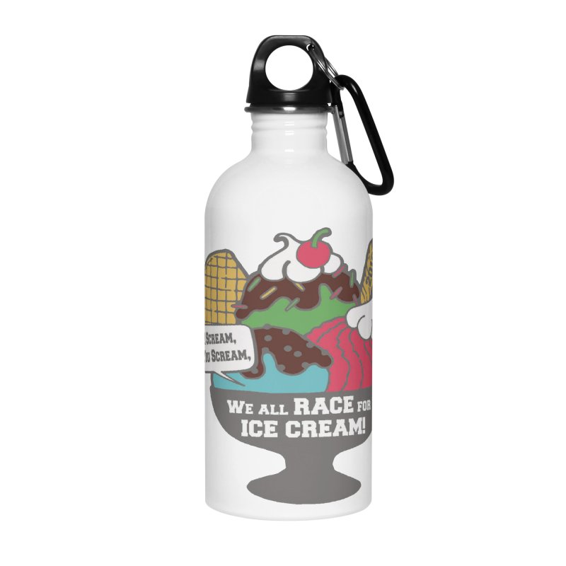 Ice Cream Day 5K Accessories Water Bottle by moonjoggers's Artist Shop