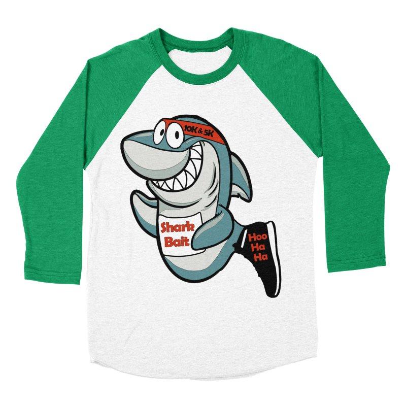 Shark Bait Hoo Ha Ha 5K & 10K Men's Baseball Triblend T-Shirt by moonjoggers's Artist Shop