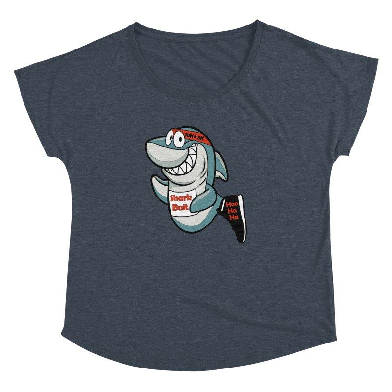 Shark Bait Hoo Ha Ha 5K & 10K Women's Dolman by moonjoggers's Artist Shop