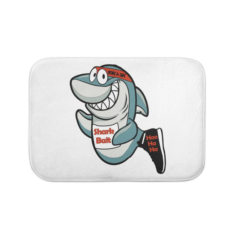 Shark Bait Hoo Ha Ha 5K & 10K Home Bath Mat by moonjoggers's Artist Shop