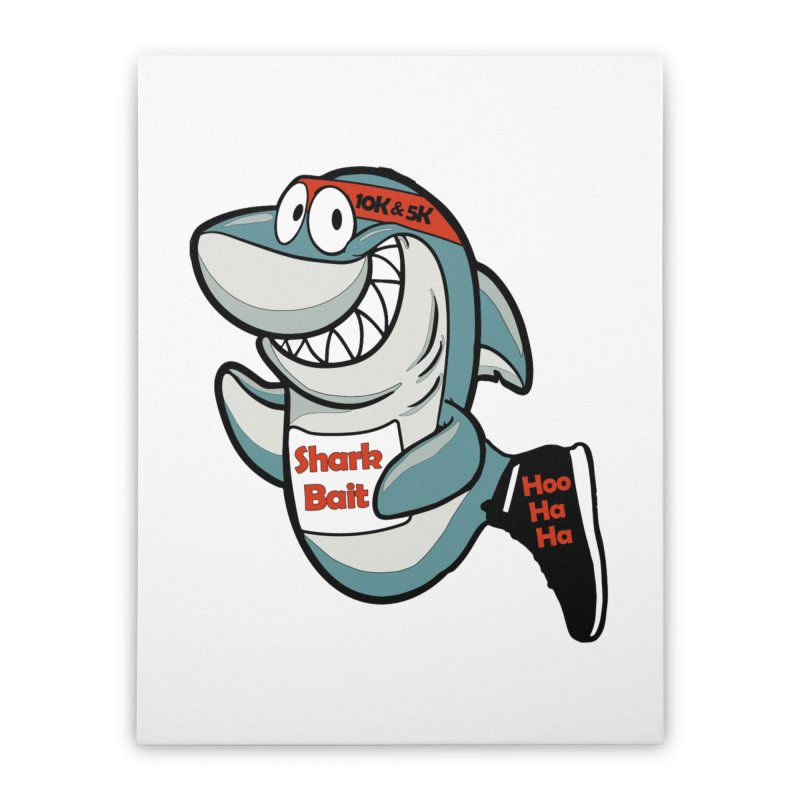 Shark Bait Hoo Ha Ha 5K & 10K Home Stretched Canvas by moonjoggers's Artist Shop