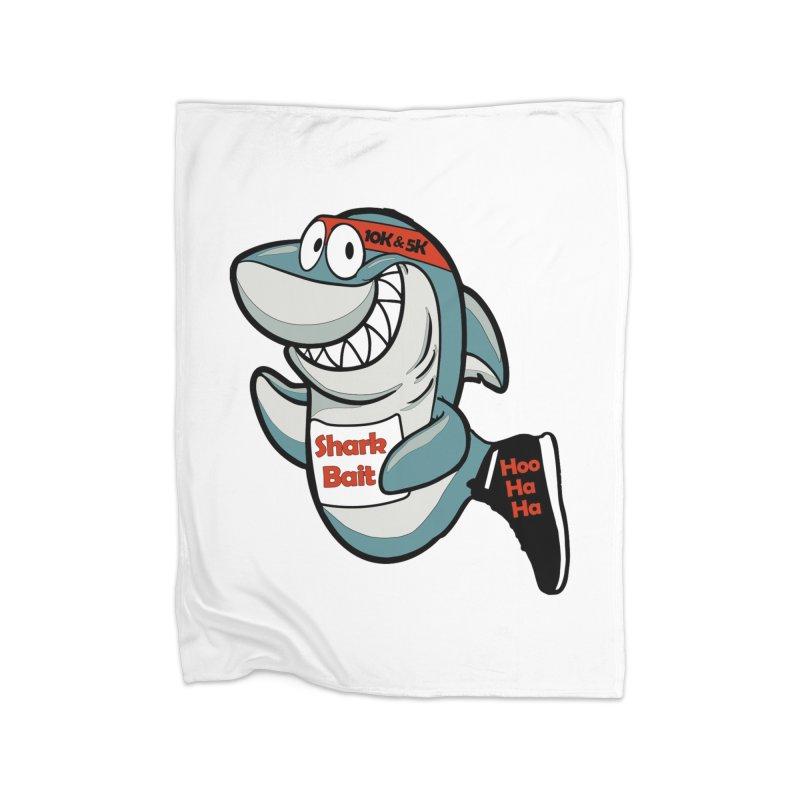 Shark Bait Hoo Ha Ha 5K & 10K Home Blanket by moonjoggers's Artist Shop