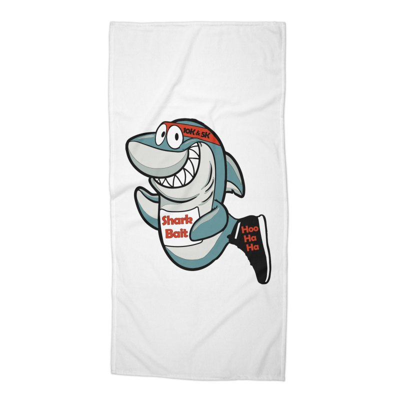 Shark Bait Hoo Ha Ha 5K & 10K Accessories Beach Towel by moonjoggers's Artist Shop