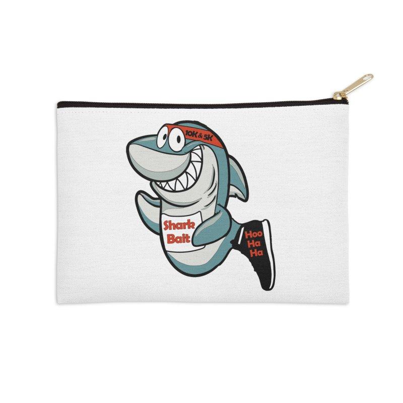 Shark Bait Hoo Ha Ha 5K & 10K Accessories Zip Pouch by moonjoggers's Artist Shop