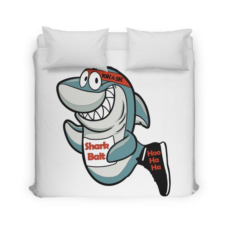 Shark Bait Hoo Ha Ha 5K & 10K Home Duvet by moonjoggers's Artist Shop