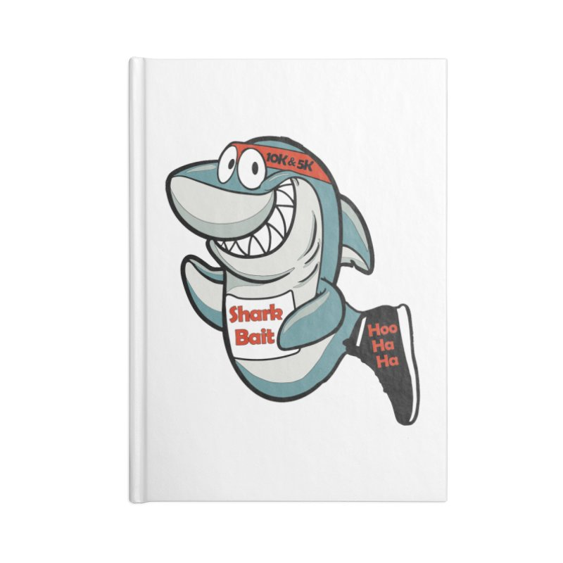 Shark Bait Hoo Ha Ha 5K & 10K Accessories Notebook by moonjoggers's Artist Shop