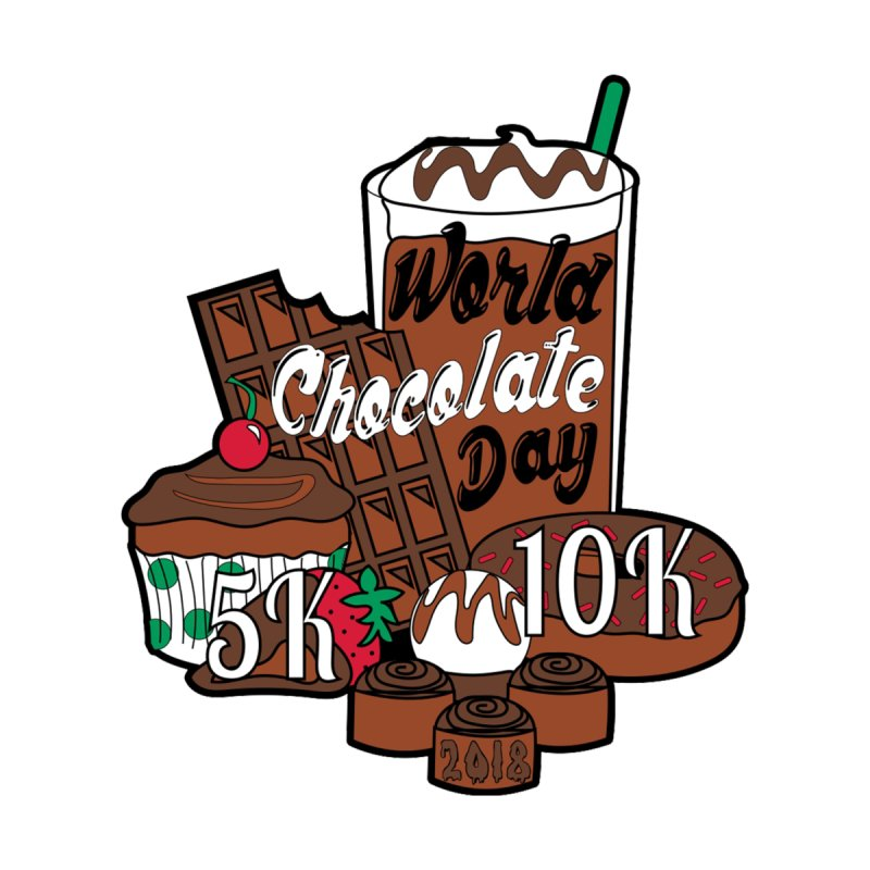 World Chocolate Day 5K & 10K! by moonjoggers's Artist Shop