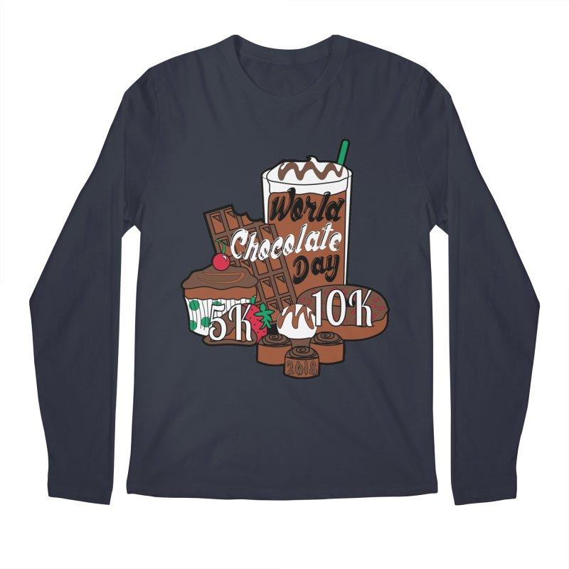 World Chocolate Day 5K & 10K! Men's Longsleeve T-Shirt by moonjoggers's Artist Shop
