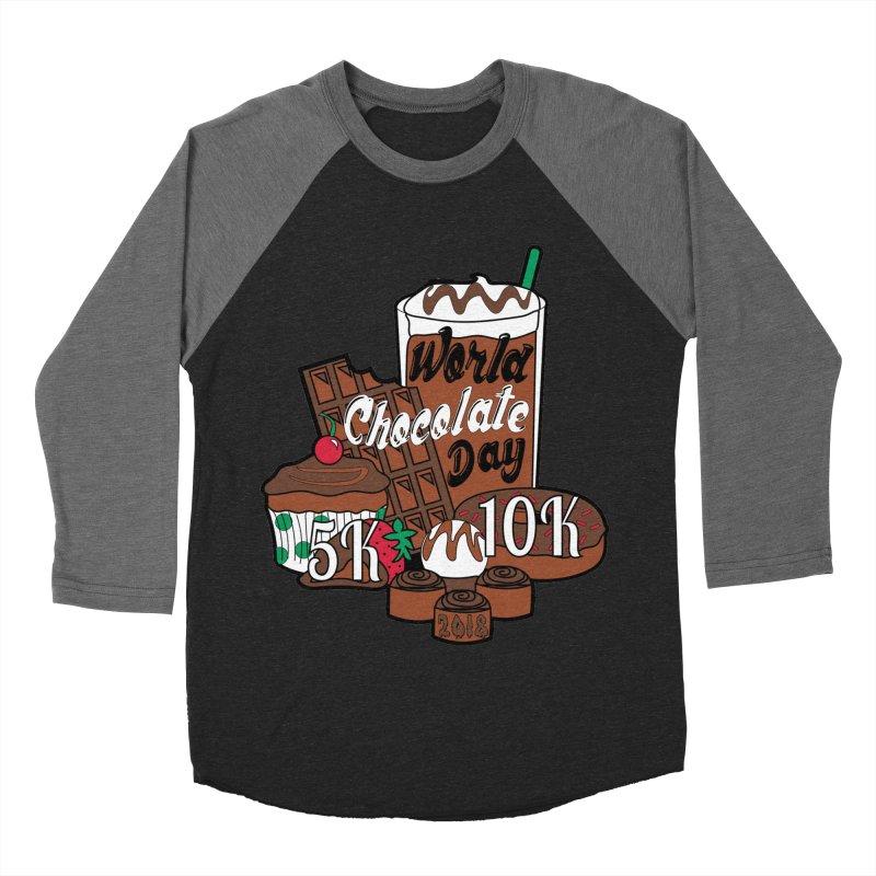 World Chocolate Day 5K & 10K! Men's Baseball Triblend T-Shirt by moonjoggers's Artist Shop