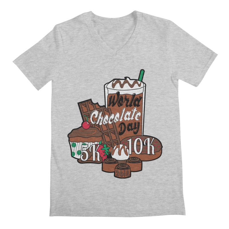 World Chocolate Day 5K & 10K! Men's V-Neck by moonjoggers's Artist Shop