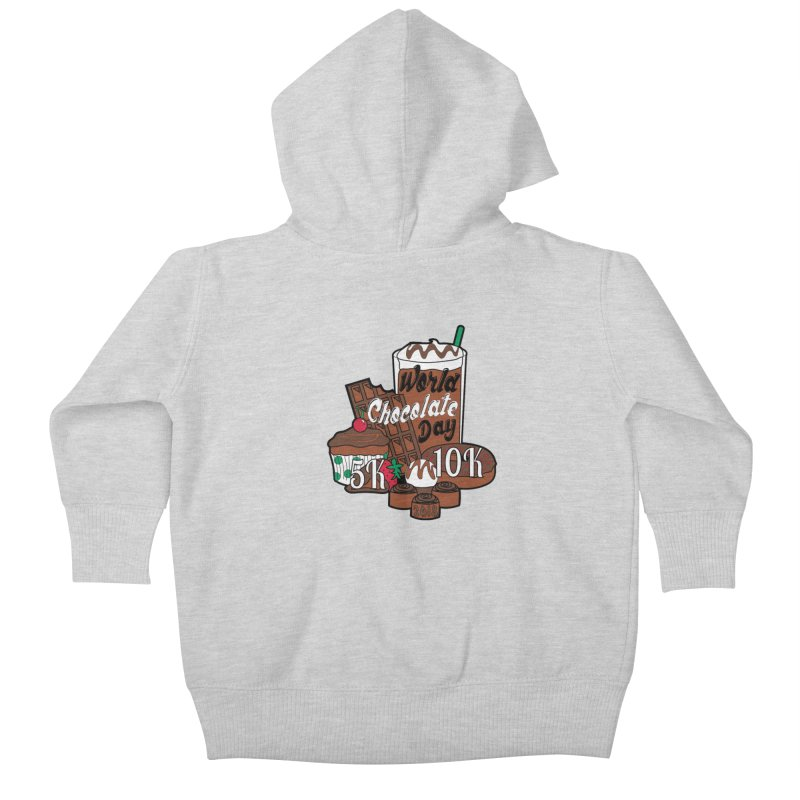 World Chocolate Day 5K & 10K! Kids Baby Zip-Up Hoody by moonjoggers's Artist Shop