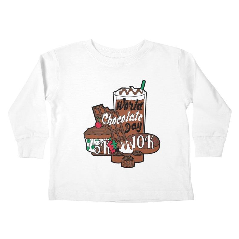 World Chocolate Day 5K & 10K! Kids Toddler Longsleeve T-Shirt by moonjoggers's Artist Shop