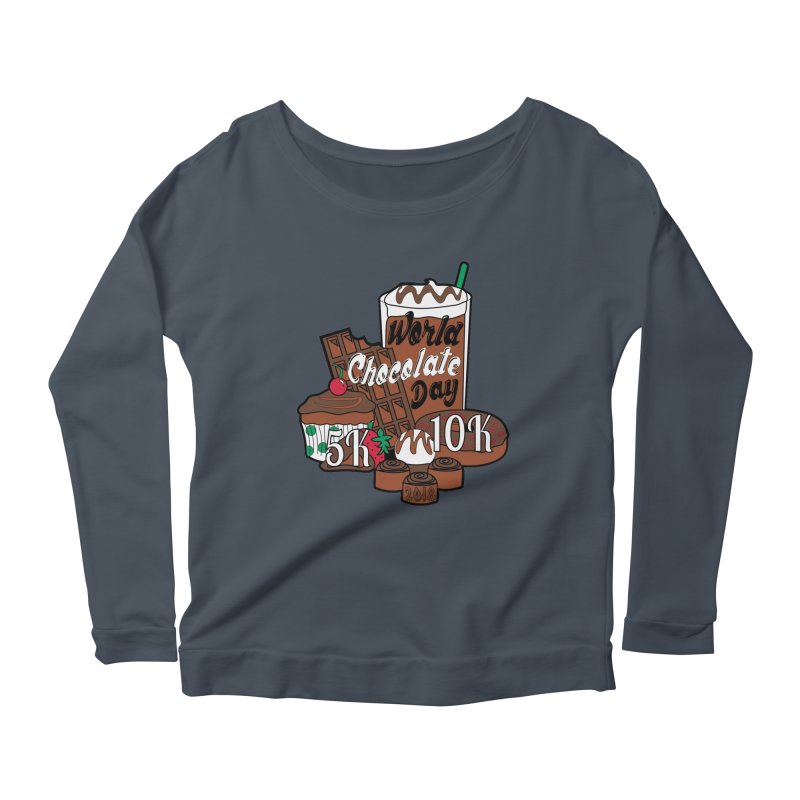 World Chocolate Day 5K & 10K! Women's Longsleeve Scoopneck  by moonjoggers's Artist Shop