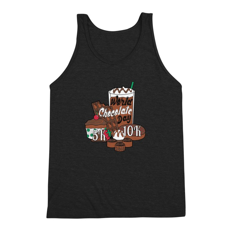 World Chocolate Day 5K & 10K! Men's Triblend Tank by moonjoggers's Artist Shop