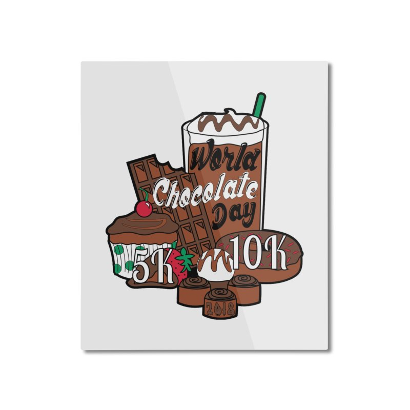 World Chocolate Day 5K & 10K! Home Mounted Aluminum Print by moonjoggers's Artist Shop