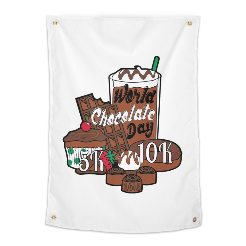World Chocolate Day 5K & 10K! Home Tapestry by moonjoggers's Artist Shop