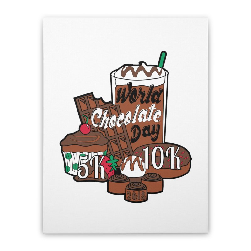 World Chocolate Day 5K & 10K! Home Stretched Canvas by moonjoggers's Artist Shop