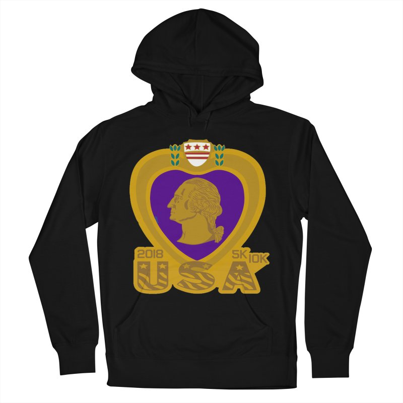 Purple Heart Day 5K & 10K Women's Pullover Hoody by moonjoggers's Artist Shop
