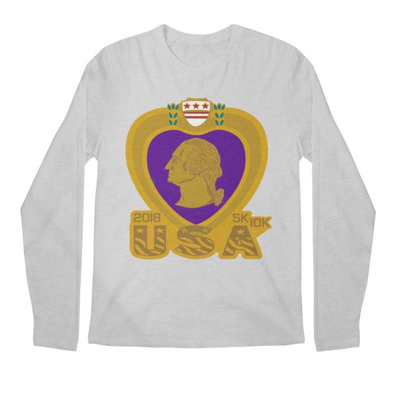 Purple Heart Day 5K & 10K Men's Longsleeve T-Shirt by moonjoggers's Artist Shop