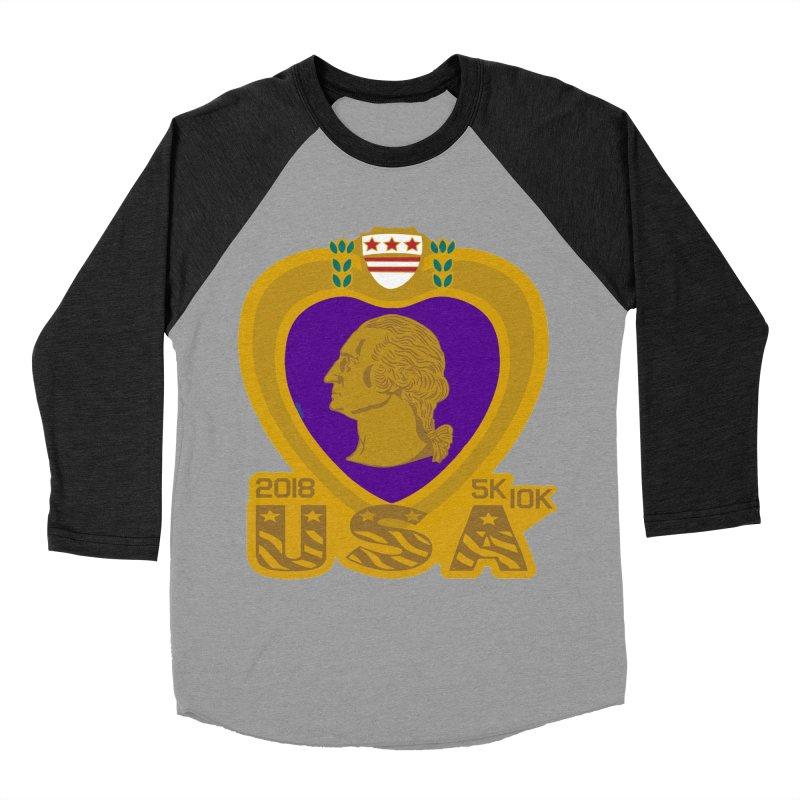Purple Heart Day 5K & 10K Men's Baseball Triblend T-Shirt by moonjoggers's Artist Shop