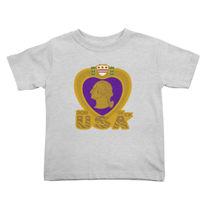 Purple Heart Day 5K & 10K Kids Toddler T-Shirt by moonjoggers's Artist Shop