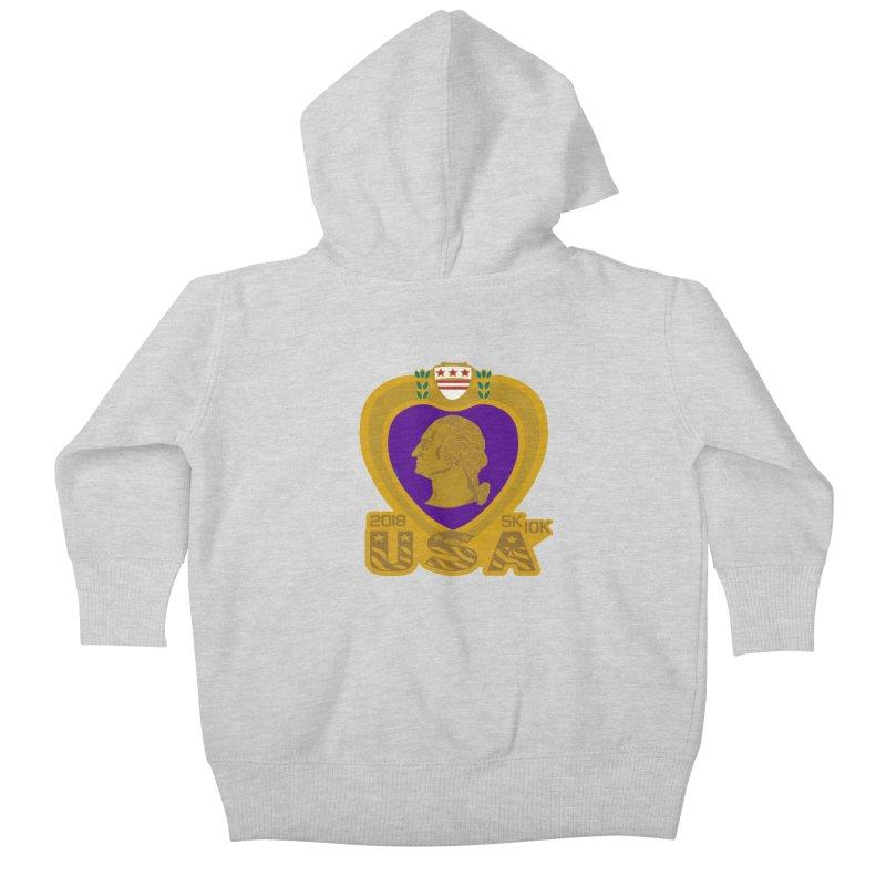 Purple Heart Day 5K & 10K Kids Baby Zip-Up Hoody by moonjoggers's Artist Shop