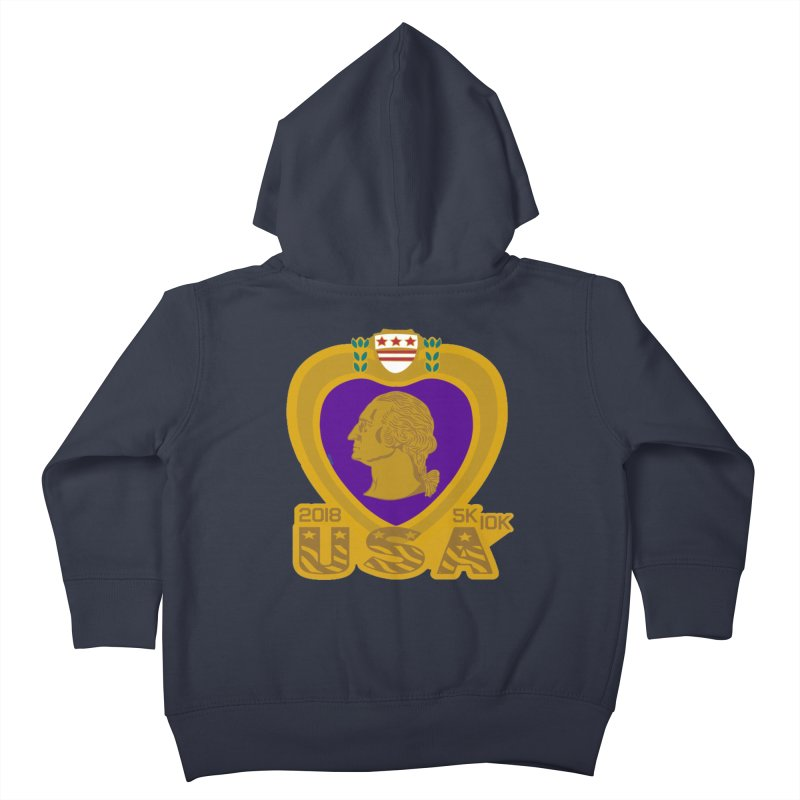 Purple Heart Day 5K & 10K Kids Toddler Zip-Up Hoody by moonjoggers's Artist Shop