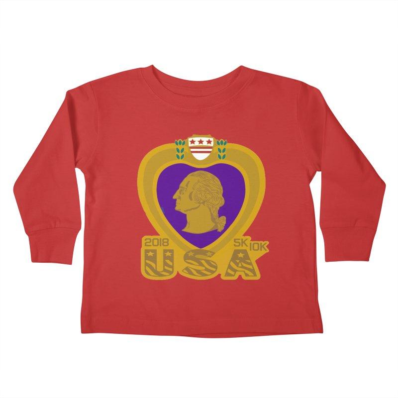 Purple Heart Day 5K & 10K Kids Toddler Longsleeve T-Shirt by moonjoggers's Artist Shop